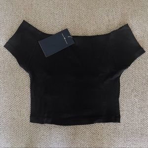 NWT Brandy Melville Cropped Off the Shoulder Top